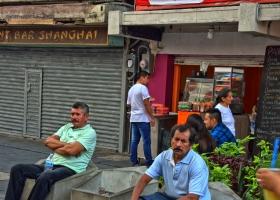 Pause im Chinesischen Viertel