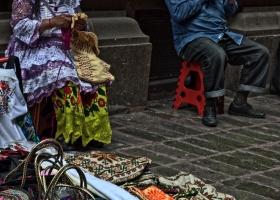 Straßenhändler: Warten auf Kundschaft