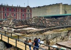 Mexiko-Stadt: Die Ruinen des Haupttempels von Tenochtitlan