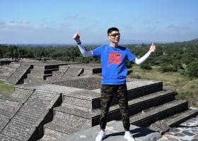 Teothihuacan: Bezwungen! Tourist auf Mondpyramide