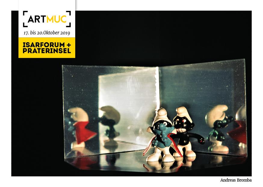 """""""Die Verschwörung"""" der Serie Andere Welten auf der ARTMUC-Postkarte"""